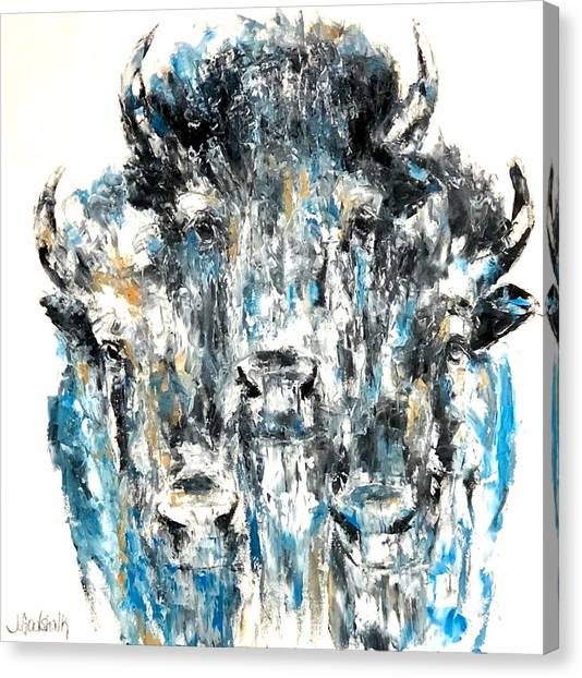 Blue Bison Canvas Print