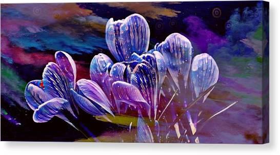 Blue Bloom Canvas Print
