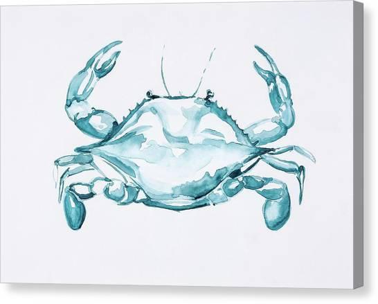 Blue Crab Turcoise Canvas Print