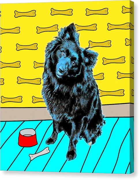Canvas Print featuring the photograph Blue Dog by Lou Novick