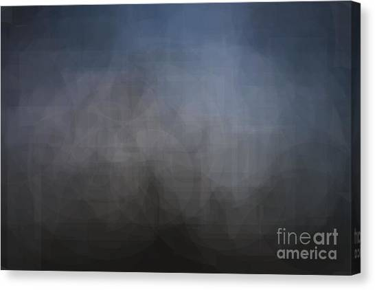 Blue Gray Abstract Background With Blurred Geometric Shapes. Canvas Print