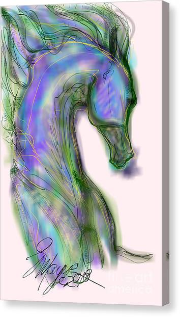 Blue Horse Painting Canvas Print