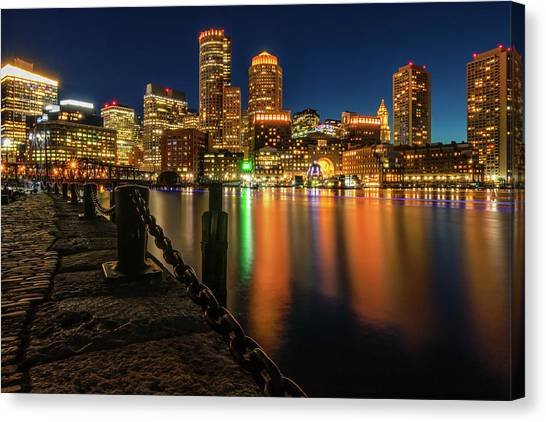 Blue Hour At Boston's Fan Pier Canvas Print