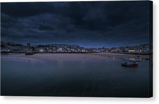 Blue Hour - St Ives Cornwall Canvas Print
