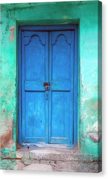 Blue Indian Door Canvas Print