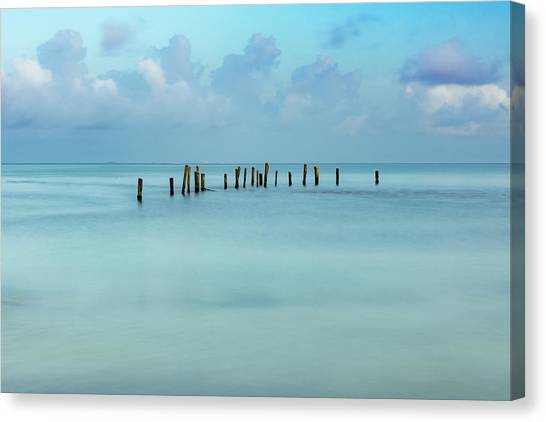 Blue Mayan Sea Canvas Print