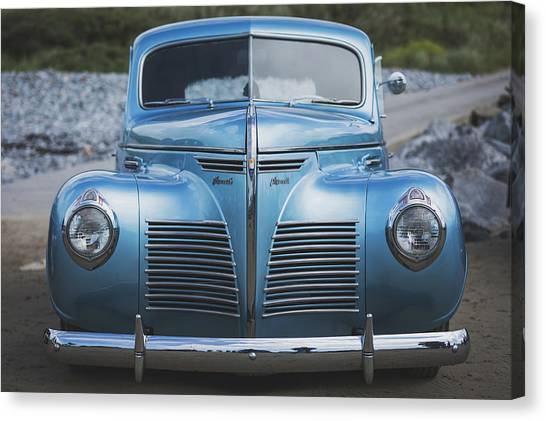 Canvas Print featuring the photograph Blue Plymouth by Elliott Coleman