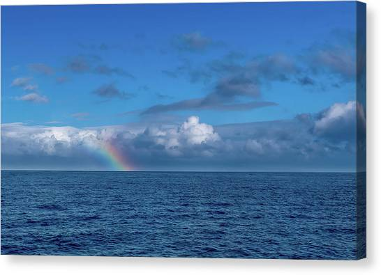 Blue Rainbow Horizon Canvas Print
