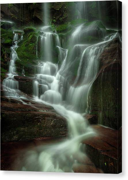 Blue Ridge Mountains Cascade Canvas Print