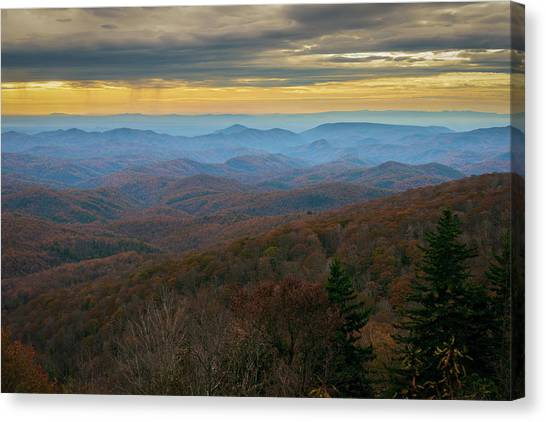 Blue Ridge Parkway - Blue Ridge Mountains - Autumn Canvas Print