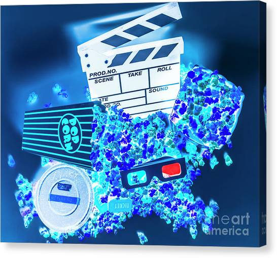 Popcorn Canvas Print - Blue Screen Entertainment by Jorgo Photography - Wall Art Gallery