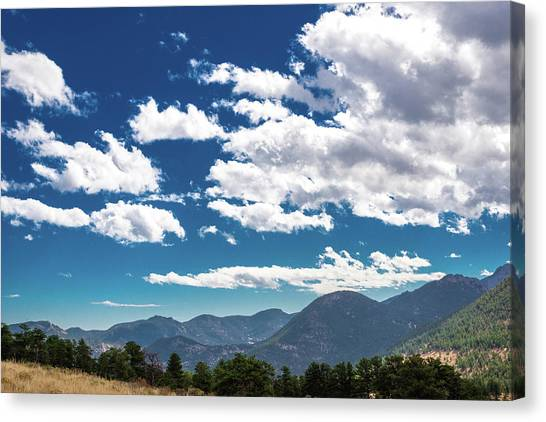 Canvas Print featuring the photograph Blue Skies And Mountains II by James L Bartlett