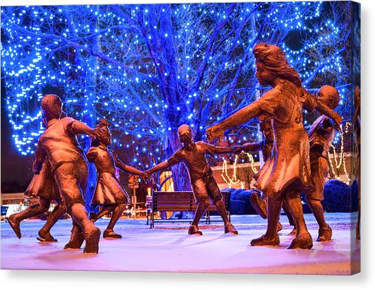 Blue Tree Play Canvas Print