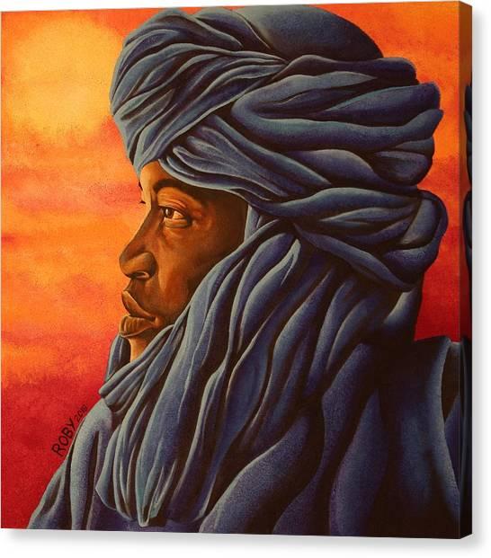 Blue Tuareg Canvas Print