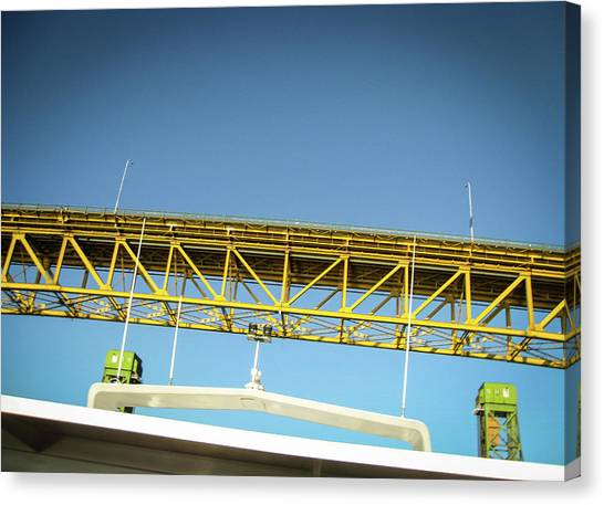 Canvas Print featuring the photograph Blue, Yellow And Green by Juan Contreras