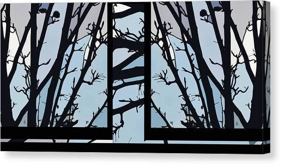 Blues - Barely Spring Abstract - Canvas Print