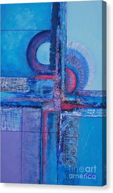 Blues With Purple Abstract Canvas Print