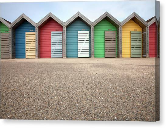 Blyth Beach Huts Canvas Print by Billy Currie Photography