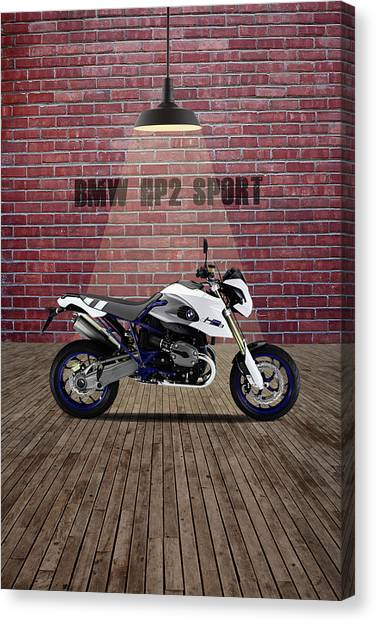 Bmw Canvas Print - Bmw Hp2 Sport Red Wall by Smart Aviation