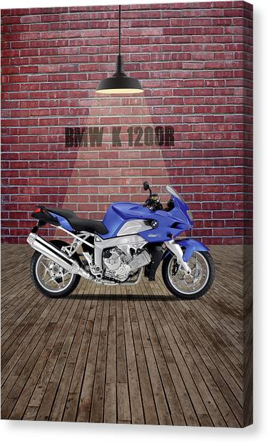 Bmw Canvas Print - Bmw K1200r Red Wall by Smart Aviation