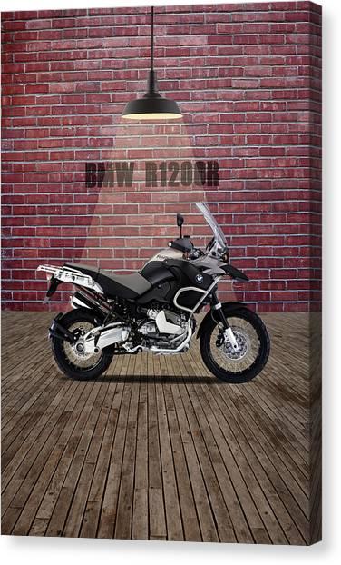 Bmw Canvas Print - Bmw R1200r Red Wall by Smart Aviation