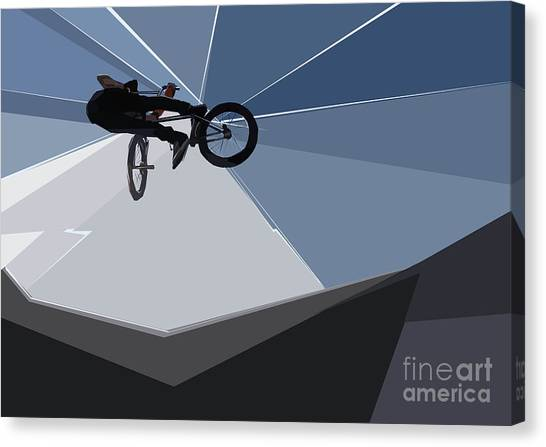 Bmx Biking  Canvas Print