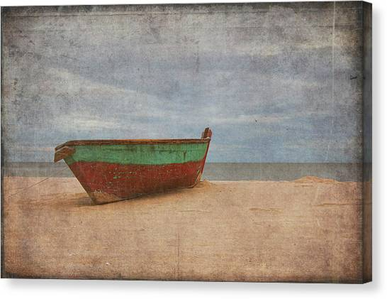 Canvas Print featuring the digital art Boat by Christopher Meade