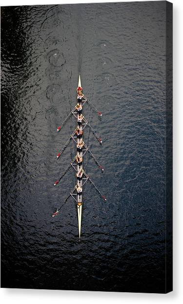 Boat Race Canvas Print by Fuse