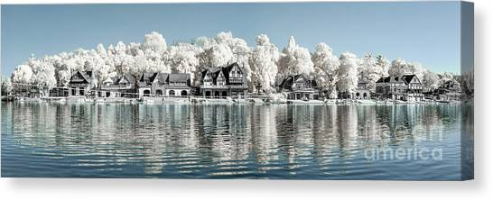 Boathouse Row Infrared Canvas Print by Stacey Granger