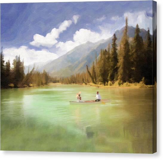 Boating On The Lake Canvas Print