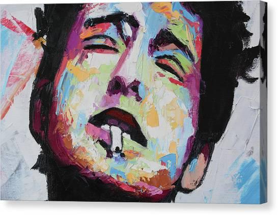 Folk Singer Canvas Print - Bob Dylan IIi by Richard Day