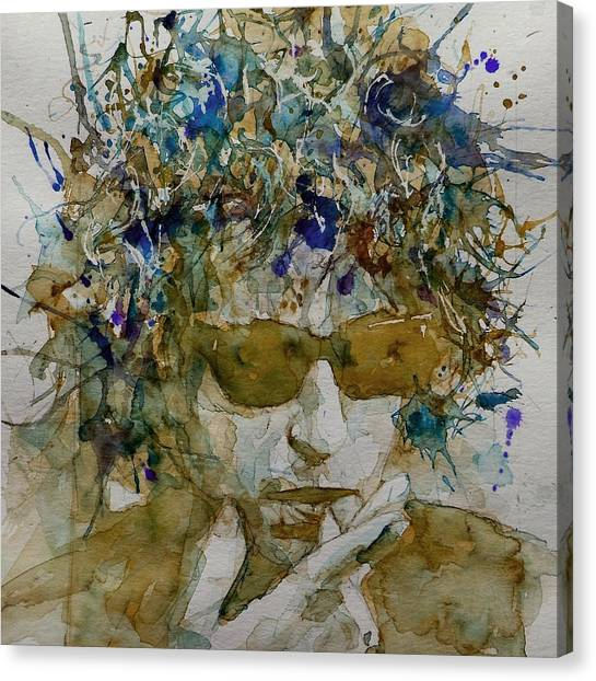 Folk Canvas Print - Bob Dylan - Knocking On Heavens Door by Paul Lovering