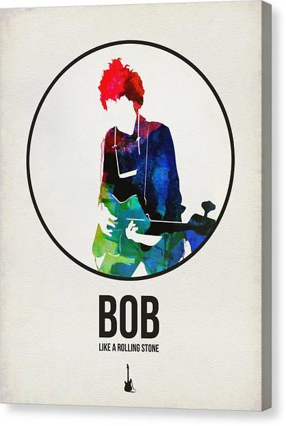 See Canvas Print - Bob Dylan Watercolor by Naxart Studio
