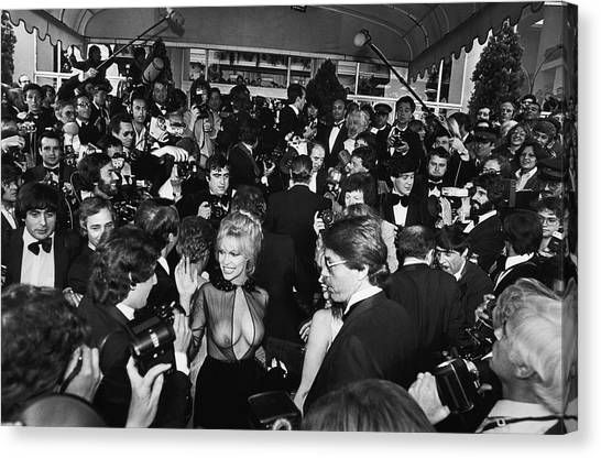 Bobbie Bresee Arrives At The Cannes Canvas Print