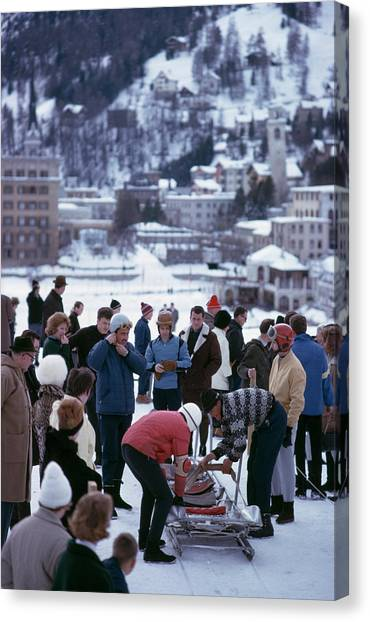 Bobsledding In St. Moritz Canvas Print by Slim Aarons