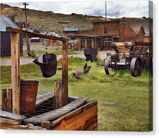 Bodie Ghost Town Canvas Print by Leland D Howard