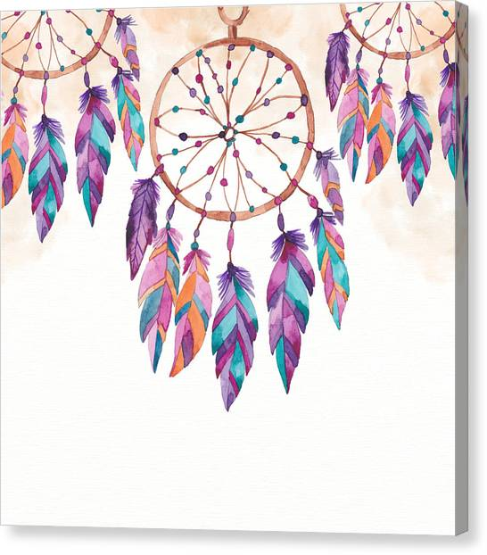 Boho Dreamcatcher - Boho Chic Ethnic Nursery Art Poster Print Canvas Print