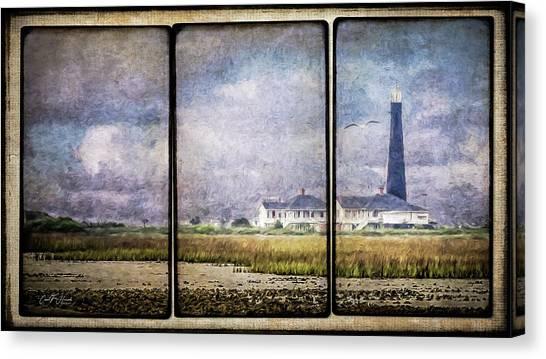 Bolivar Lighthouse Triptych 1 Canvas Print