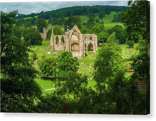 Bolton Abbey, Yorkshire Dales Canvas Print by David Ross