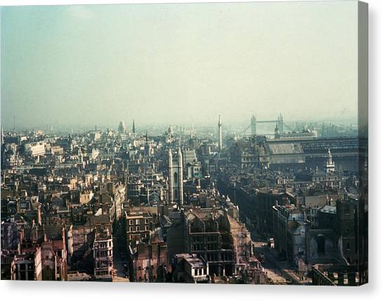 Bomb Site Canvas Print by Frank J. Galloon