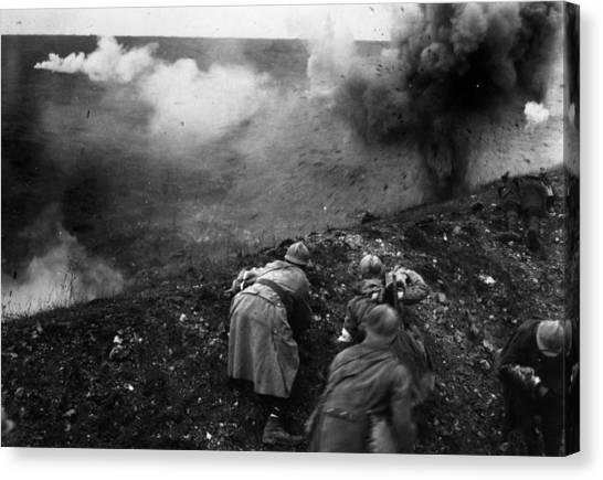 Bombardment Canvas Print by General Photographic Agency