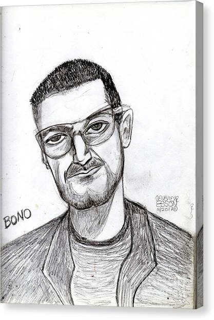 Bono Canvas Print - Bono Vox by Genevieve Esson
