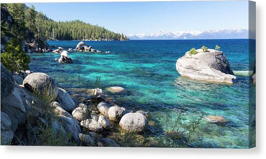 Bonsai Rock, Lake Tahoe, Panorama Canvas Print