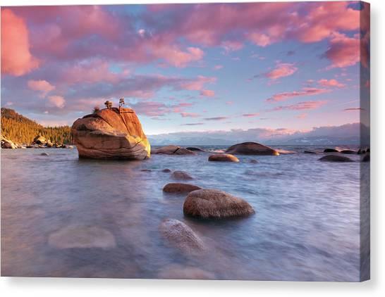 Bonsai Rock, Lake Tahoe Canvas Print