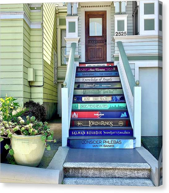 Canvas Print - Book Stairs House by Julie Gebhardt