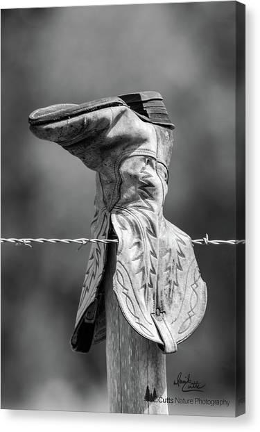 Boot Post Canvas Print