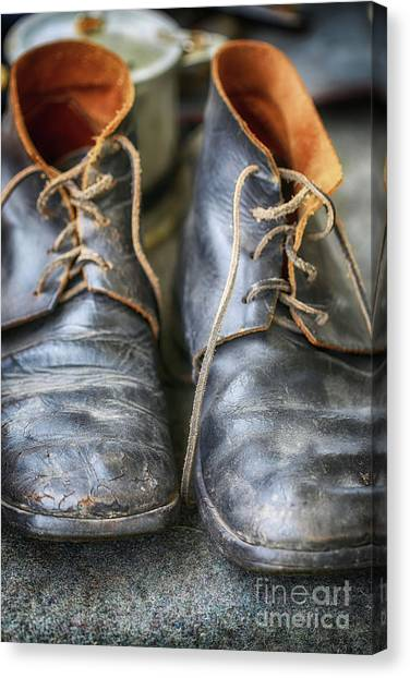 Boots Of Company H Canvas Print