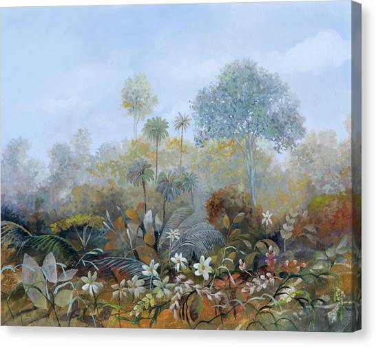 Foggy Canvas Print - Boschetto Colorato by Guido Borelli
