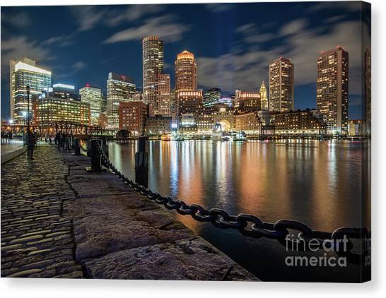 Boston At Blue Hour Canvas Print