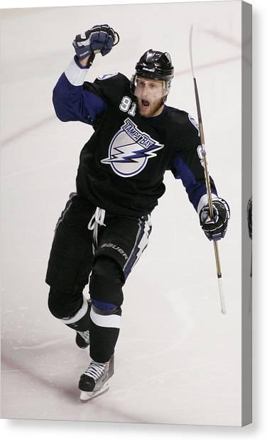 Boston Bruins V Tampa Bay Lightning - Canvas Print by Justin K. Aller